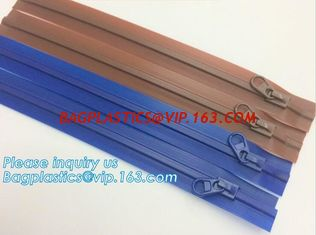 RUBBER ZIPPER, PLASTIC SLIDER, EASY TEAR ZIPPER, PRESS LOC ZIPPER, FLANGE ZIPPER, VACUUM ZIPPER, YKK