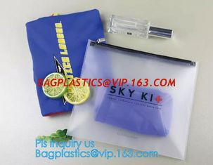 China PVC Stationery ruler set packaging bag with slider, fabric slider zip bags, slider PVC cosmetic bag,pencil bag supplier