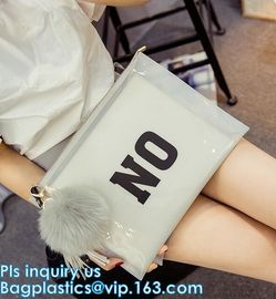 China 4mil frosted plastic zip bag with slider, Frosted PVC Waterproof Zip lock Bags For Clothing/ Slider Zip Lock Bags Reusab supplier
