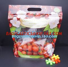 China LDPE ziplock aseptic grape bag,cherry bag,fruit bag with hole/slider ziplock fruit bag with air holes for grape packagin supplier