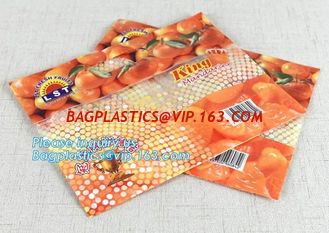 China fresh fruit packaging bag holes/OPP/CPP transparent standing fresh fruit bag with holes, ziplocK slider storage bag supplier