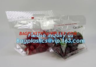 China frosted reclosable zipper plastic bags with slider ziplock, round bottom slider grape bag/table grape bag used in graper supplier