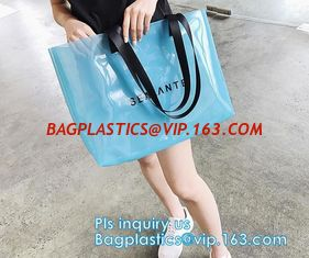 China Plastic Waterproof Beach Bag, satchel handbag with a purse for women, Pockets And Zipper See Through PVC Tote Bag, carry supplier