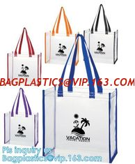 NEON BEACH TOTE PVC BAGS, VINYL SHOPPING SHOPPER TOTE BAGS, COSMETIC PACKAGING ZIPPER PVC BAGS, EVA