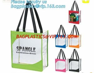 China custom Design logo printed pvc clear plastic bags, professional printing shopping bag plastic bag, Biodegradable Recycla supplier