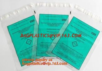 China wholesale custom printed ldpe ziplock kangaroo pouch plastic zipper bag zip lock biohazard specimen bags with pocket supplier