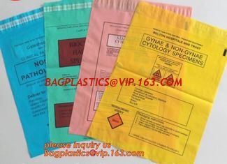 China Poly Plastic Medical Specimen Bags Hospital Bag Medical Vomit Bag, specimen bag autoclavable biohazard bags high quality supplier