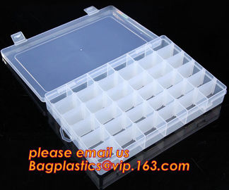 China Adjustable Plastic Storage Box For Nail Art Design Decoration, Creative multi-function plastic storage box cosmetics cas supplier