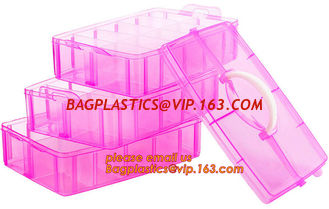 China adjustable plastic storage box plastic screw bead box, Detachable Compartments Clear Plastic Divided Storage Box for Scr supplier