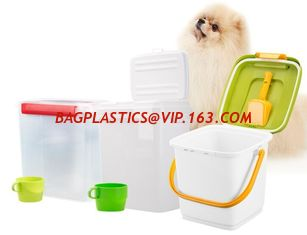 China Food grade square Plastic Bucket 20 liter with lid, dog food plastic container, PP/PE Plastic dogs-food Bucket Pail Easi supplier