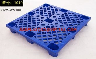 China Custom 1200x1000x150 mm 4 way entry anti-slip plastic pallet, Cheap accept custom single faced plastic pallet prices supplier