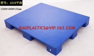China 100% Virgin HDPE wear-resistant anti-slip stackable plastic pallet, China Manufacturer accept custom standard stacking p supplier