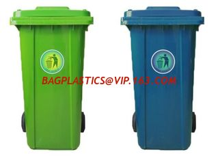 China 240LCustom plastic garbage bin for outdoor use, Large capacity 660 liter plastic garbage four-wheeled cart with lid bin supplier