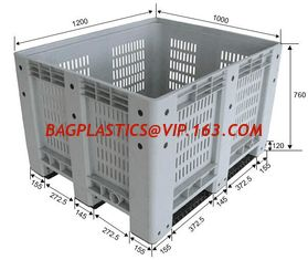 China Standard sizes HDPE large collapsible plastic pallet box, Heavy duty industry storage use collapsible plastic mega bin supplier