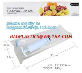 "China Large 11"" x 50' Commercial Grade Vacuum Sealer Food Saver Storage Roll Bags, Vacuum Bag packaging snack/plastic food gra supplier"