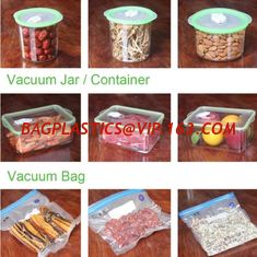 China VACUUM JAR, VACUUM CONTAINER, channel vacuum pouch food storage bag, Safety food grade vacuum storage bag, home used vac supplier