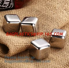 China best chilling ice cubes for whiskey stainless steel whiskey stones with FDA, real dice ice cube whisky wine stone stainl supplier