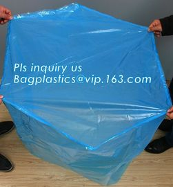 China sealable square bottom pallet shrink wrap plastic cover for bags, jumbo black lightproof and waterproof plastic pallet c supplier
