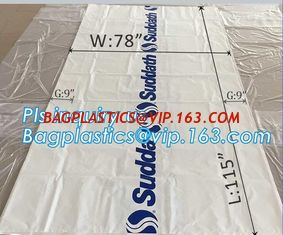 "China pe bag pallet cover plastic bag sqaure bottom bag, 54 x 44 x 96"" 1 Mil ldpe Clear Pallet Covers, top covers clear plasti supplier"