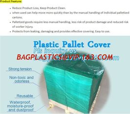 China customized PE pallet cover bag, Waterproof pallet covers/ Poly Bags, Plastic Pallet Covers Gusseted Pallet Covers Pallet supplier