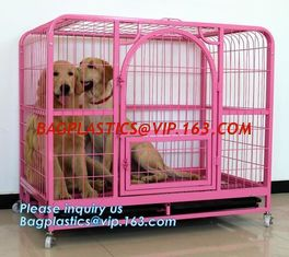 China Pet Cages, Carriers & Houses foldable double door large dog kennel house, portable strong dog cage fold able stainless s supplier