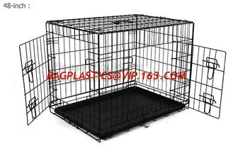 China Wholesale Heavy Duty Custom Made Large Animal Pet Dog Cage ( stainless steel, metal, aluminum, iron,galvanized steel ) supplier