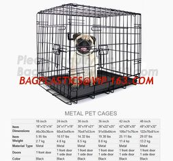 China wholesale heavy duty stainless steel dog cage , large double foldable dog kennel, Vet Cage Bank Pet Cages Round Cornered supplier