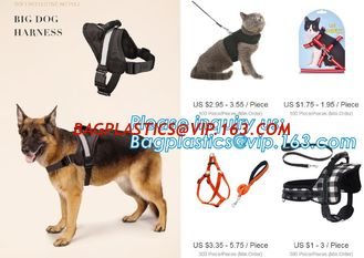 China BIG DOG HARNESS, Custom Logo Nylon Rope Pet Dog Leash and Harness Set, size/logo/color no pull easy walk puppy big Dog H supplier