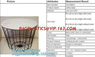 China Glass top metal wire rose gold round coffee table, Outdoor Furniture Commercial Furniture Polywood Furniture Metal table supplier