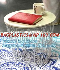 China Commercial use stylish marble top metal wire square coffee table, Steel wire coffee table, high end solid wood table top supplier
