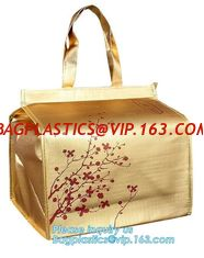 Newest promotional pp laminated non woven thermal lunch bags