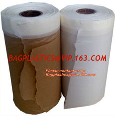 China PAPER Adhesive Tape Masking Film For Car Painting, Speedy Mask - Indoor (2700mm) 20m with Masking Tape, RICE PAPER PAC supplier