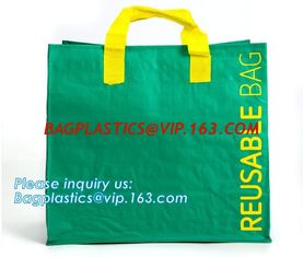 China Custom Logo Printed Eco Friendly Tote Shopping Carry Fabric PP Laminated Recyclable Non Woven Bag,supermarket grocery re supplier