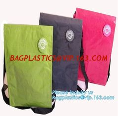 China Factory custom recyclable folding laminated pp non woven bag shopping with heat transfer printing non woven fabric carry supplier