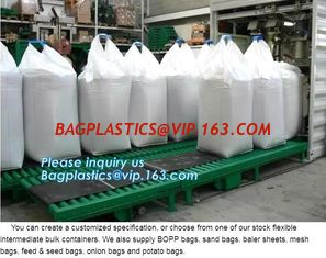 China China Factory price 100% new material 1 ton PP bulk bag woven big bag jumbo bags,100% pp woven recycled FIBC big bag supplier