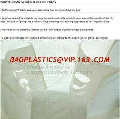 China Flat bottom open mouth virgin PP woven bags 1000kgs 1 ton jumbo bags big fibc bulk bag for packing,breathable pp woven b supplier