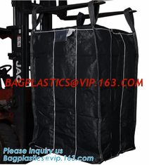 China OEM 1 ton 2 ton PP woven big bags shipping jumbo bulk bag,High Quality 2 loops pp woven big bag,100% New Virgin Polyprop supplier