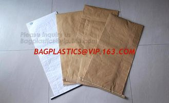 China paper bags wholesale Kraft paper pp woven sack,25kg Food packaging kraft paper laminated pp woven bag for packing sea an supplier