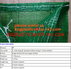 China Supply Professional PE 50 lb mesh Leno Raschel onion packing bag,agricultural use PE Plastic Raschel mesh bag for packin supplier