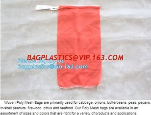 China Cheap PP/PE Knitted plastic raschel leno mesh packing bags customized color size for Agriculture fruit vegetable, bageas supplier