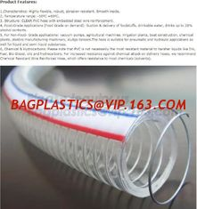 China manufacture transparent pvc steel wire spiral reinforced water hose,coveying water, oil and powder in the factories, agr supplier