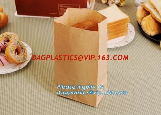 China Bread Kraft Paper Bag Square Bottom Bag Takeaway food Packing Bag,Recyclable sandwich bread food packaging brown paper b supplier