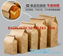 China Free sample food grade paper bread bag with window,Food grade recycled bread paper bag with paper twist handle, bagease supplier