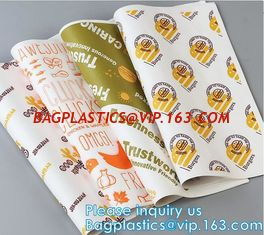 China New Waterproof Craft Color Print Gift Wrap A4 Fast Food Sandwich Products Wrapping Kraft Paper, supplier