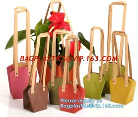 China flower carrier bag cheap brown paper flower bag handle bag,Portable Bouquet Flower Carrier Gift Packing Paper Bag bageas supplier