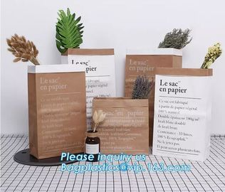 China Laudry kraft bags, clothes bags, pack Recycled brown kraft paper bag twisted handles shopping packaging kraft paper bag supplier