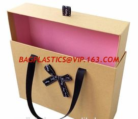 China Custom printed luxury black paper cardboard folding magnetic clothing gift box with ribbon,Paper Chocolate Gift Box For supplier