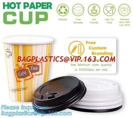 China Biodegradable coffee paper cup with lid custom printed paper cup,3oz 5oz 6oz 8oz ice cream paper cup and paper lid pack supplier