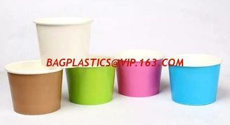 China Yogurt paper cups, disposable paper icecream cup for summer,icecream paper cups for American and European market bagease supplier