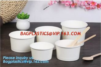 China Disposable paper hot soup cup with paper flat lid,microwaveable deli container disposable plastic hot soup cups bagease supplier
